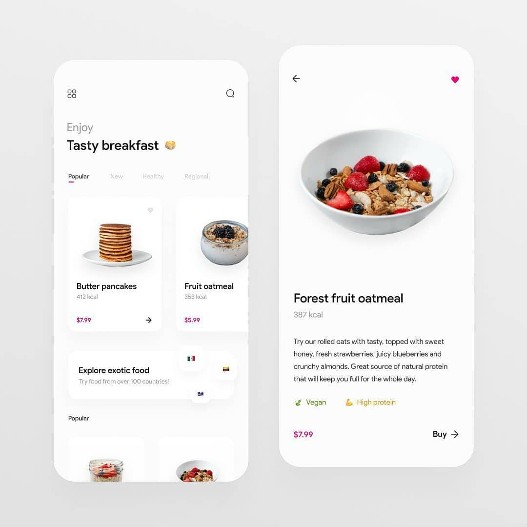 Restaurant Mobile app Ui Design